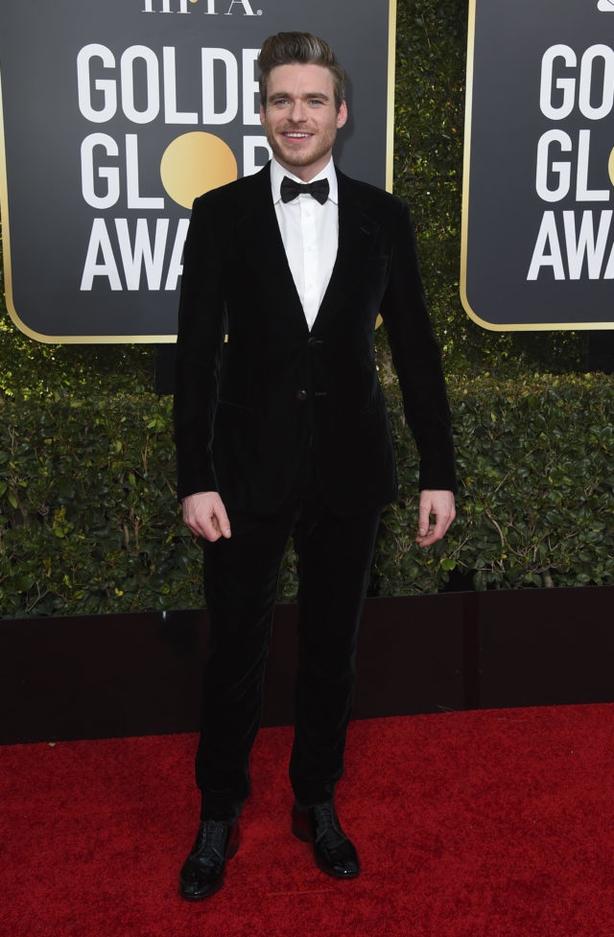 Richard Madden arrives at the 76th annual Golden Globe Awards (Jordan Strauss/AP)