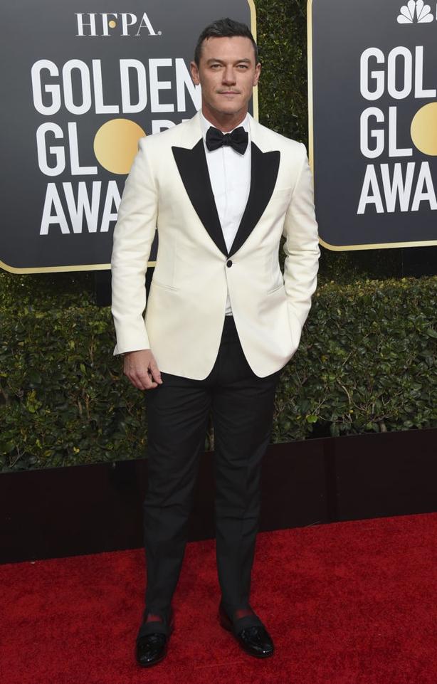 Luke Evans arrives at the 76th annual Golden Globe Awards (Jordan Strauss/AP)