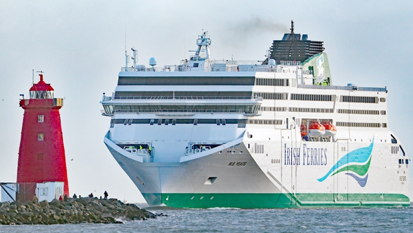 The delivery of Irish Ferries' WB Yeats vessel was delayed in the summer of 2018