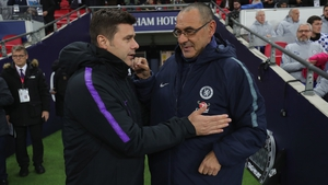 Maurizio Sarri and Tottenham boss Mauricio Pochettino are seeking the first major trophies of their careers
