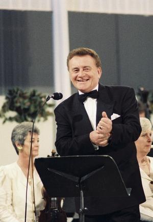 Larry Gogan presenting the proms