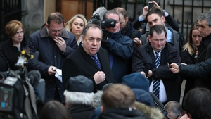 Alex Salmond outside the Court of Session in Edinburgh