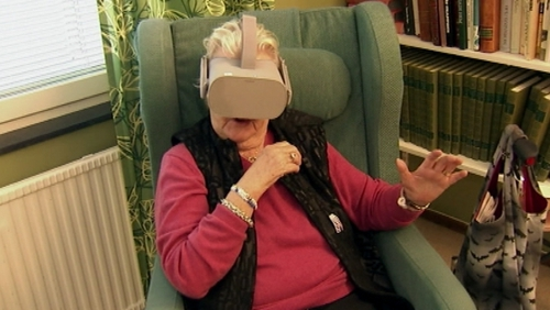 The Eneberg home has turned to VR to offer residents a change of pace