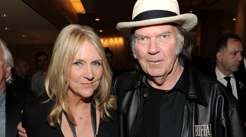 Neil Young and former wife Pegi in 2012