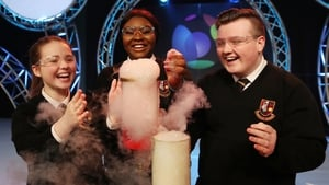 (L-R) Sophie Kelly, Rachelle Biayi and Karl Fitzpatrick, from Pobalscoil Neasain, Baldoyle in Dublin, at the launch of the BT Young Scientist and Technology Exhibition