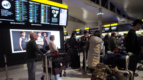 An airportspokesperson said departures were disrupted for an hour