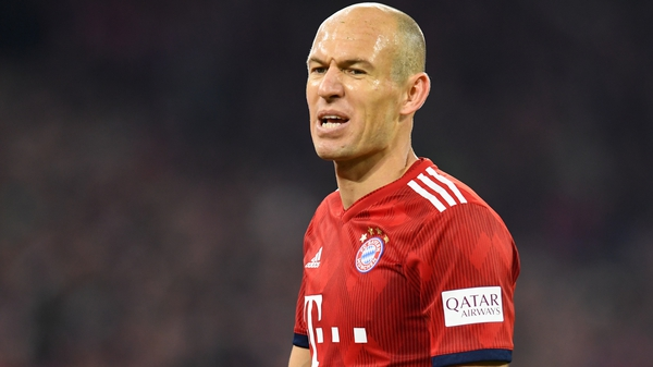 Bayern Munich's Dutch midfielder Arjen Robben is braced for a battle with Liverpool
