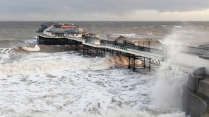 Waves crash around Cromer Pier in Norfolk, as forecasters warned that the same weather patterns that sparked the Beast from the East last winter could return this year