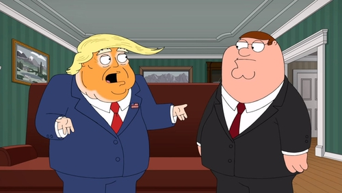 Donald Trump meets Peter Griffin on Family Guy