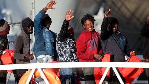 49 migrants, including a baby and several children, were rescued in December
