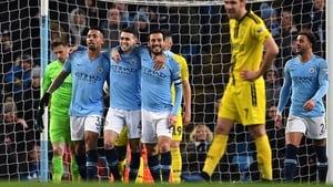 Gabriel Jesus celebrates his fourth goal