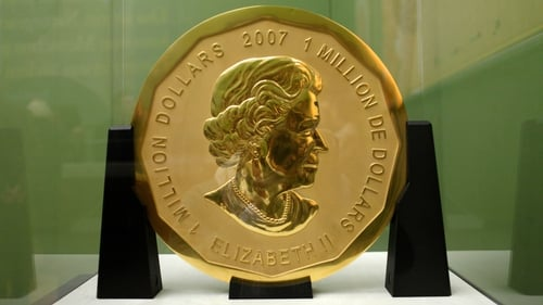 The coin is valued at €3.75m