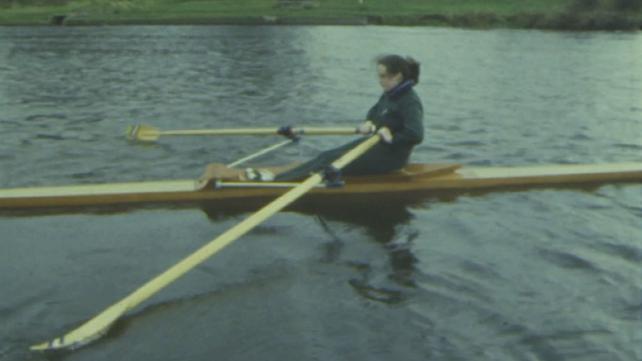 Mary Reynolds training on the River Liffey, Islandbridge (1974)