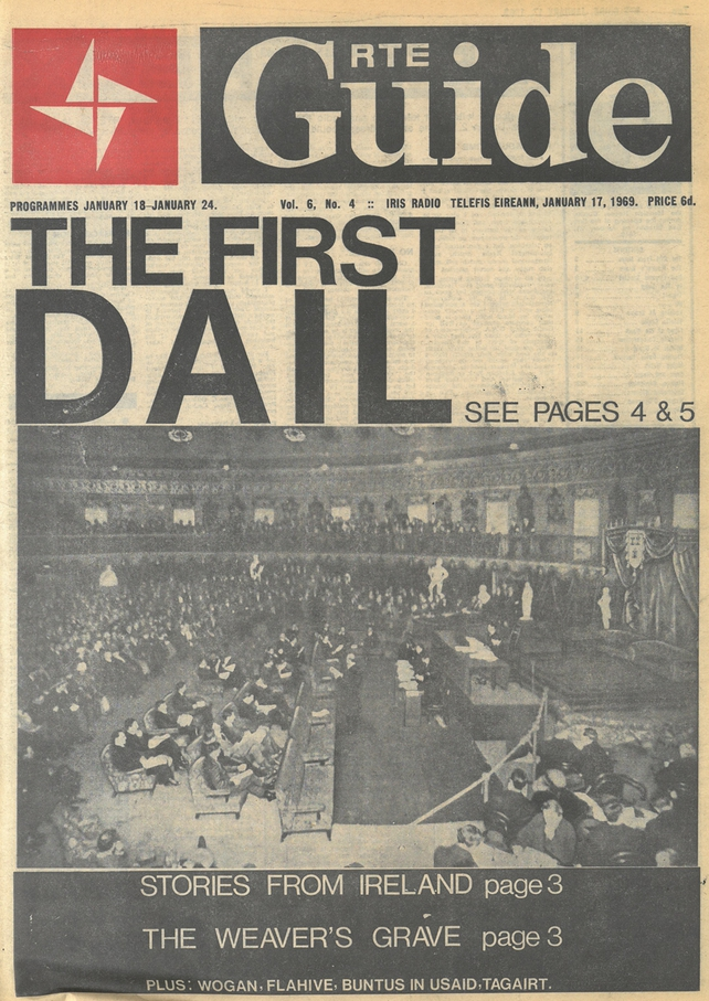 First Dáil RTÉ Guide Cover, January 1969
