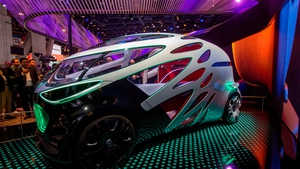 car giant Mercedes showcased its Vision Urbanetic, a concept autonomous vehicle designed for urban areas, at CES 2019