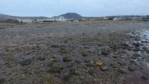 Almost all of the sand on Dooagh Beach has been washed away and replaced by boulders (Pic: Achill Tourism)