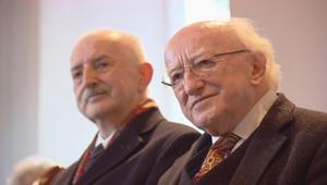 President Michael D Higgins will attend the funeral of Ian Adamson in Belfast