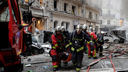 Several injuries reported after explosion in Paris