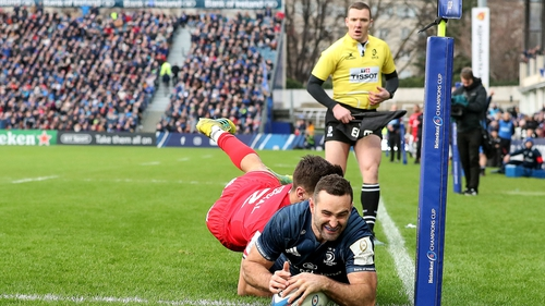 Dave Kearney scores for Leinster