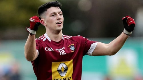 Westmeath's Ronan O'Toole celebrates his side's opening goal
