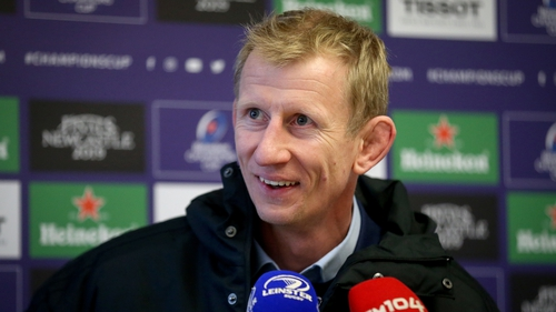 Leinster Head Coach Leo Cullen was all smiles after Leinster's win over Toulouse