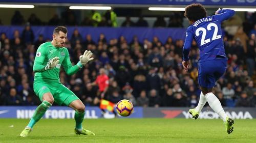 Willian scored the winner for Chelsea