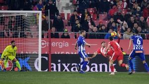 Cristhian Stuani scored a stunning overhead goal