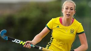 Sarah Hawkshaw earned a first cap for Ireland