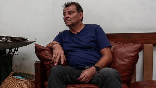 Cesare Battisti pictured at his home in Brazil in 2017