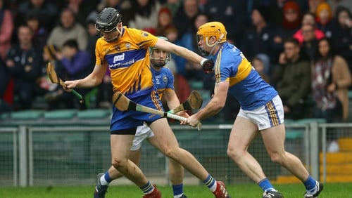 Clare's Colin Guilfoyle was a key figure in his side's Munster League triumph in Limerick