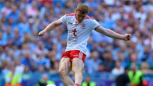 Peter Harte scored four frees for Tyrone after coming on as a substitute against Derry.