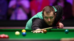 Mark Allen was edged out by Belgium's Luca Brecel