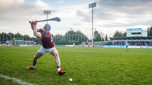 Joe Canning scoring the winning sideline puck against Dublin in Parnell Park