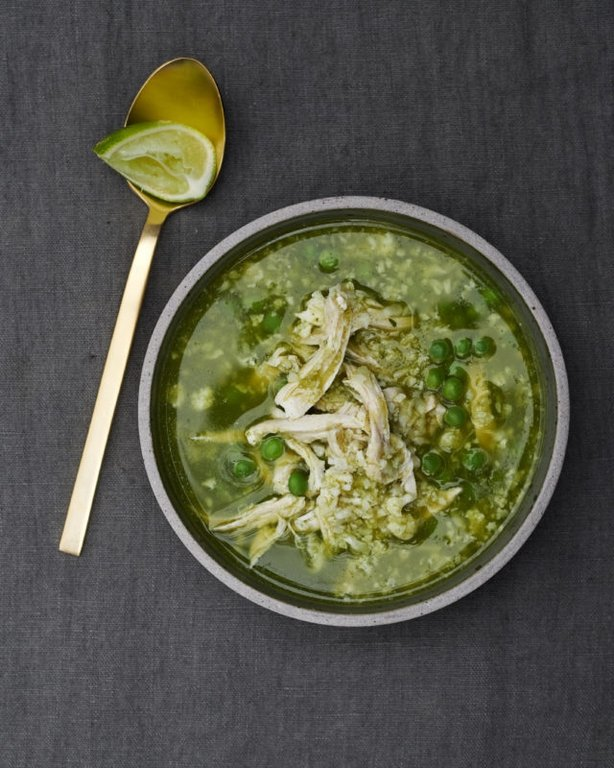 Peruvian Chicken Cauli Rice Soup from The Clean Plate by Gwyneth Paltrow (Ditte Isager/PA)
