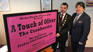 Cllr James Collins and Nicky Woulfe at the presentation in Limerick