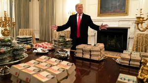 US President Donald Trump paid for the food for the national college football champions