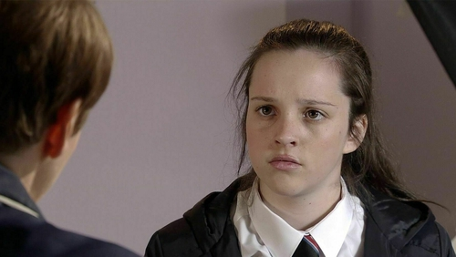 Liz tells Amy that she needs to chat to her parents
