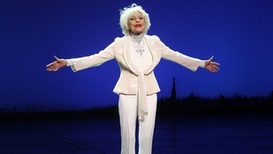 Carol Channing celebrating her 90th birthday onstage in New York in December 2010