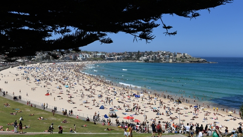 The white sands will remain off-limits to sunbathers, joggers and families (file image)
