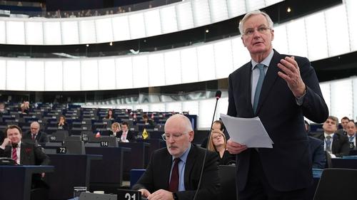 Michel Barnier said the backstop must remain