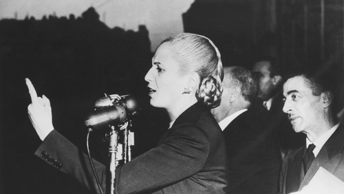 """""""As the first lady of Argentina, Evita aroused mixed feelings."""" Photo: Getty Images"""