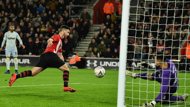 Southampton rocked as Derby win FA Cup shoot-out