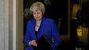 Theresa May delivered a statement outside Downing Street tonight