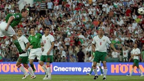 Richard Dunne in action against Bulgaria back in 2009