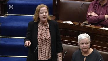 Ruth Coppinger agusBríd Smith sa Dáil inniu
