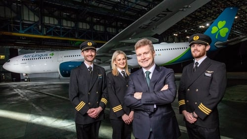 Aer Lingus Chief Executive Sean Doyle (second from right) is confident the airline's operation will not be disrupted by Brexit
