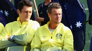 Bernard Tomic (L) and Llewton Hewitt's relationship has turned toxic