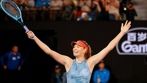 Maria Sharapova hit 37 winners and converted her second match-point to set up a fourth round clash with local hope Ashleigh Barty