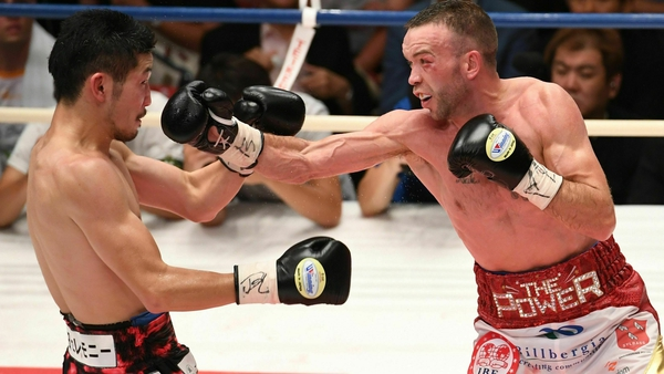 TJ Doheny en route to securing the IBF world title against Ryosuke Iwasa