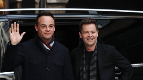 Ant Mc Partlin and Declan Donnelly arrive at The London Palladium for Britain's Got Talent auditions
